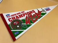 """Vintage 49ers Superbowl XXIII Champions 1989 29"""" NFL Football Pennant Flag"""