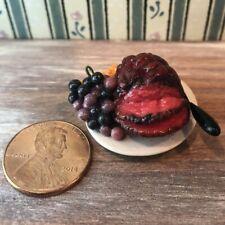 Dollhouse miniature food Roasted Beef Platter/sliced 1:12