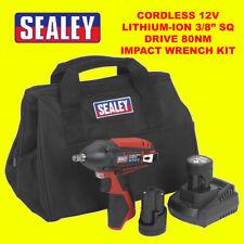 Sealey CP1204KIT 12V Kit de llave de impacto 2 Baterías, Cargador Y Bolsa De Lona