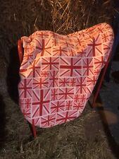 Pink Fleece  Union Jack Saddle Cover