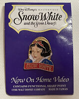 Snow White & the Seven Dwarfs Home Video Lapel Hat Pin Back New on Card Disney