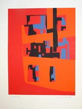 1737f86c43a Jean CAVALLARO (1930-2000) LITHO ÉPREUVE ARTISTE SIGNEE AU CRAYON ART  ABSTRAIT