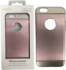Moshi iGlaze Armour Slim Metallic Aluminum Cover Case For iPhone 6 6S Gold Pink