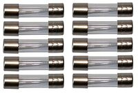 10 fusibles lents retardés temporisés en verre 2cm 5x20mm 220V 250V  5A