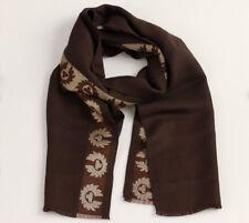 Belstaff Designer-Schal mit Seidenanteil, 3-farbig, lila oder braun