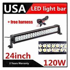 20inch 120w spot flood LED ALLOY Work Light Bar 4WD boat UTE driving SUV lamp 24