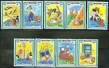 Bhutan Disney Int'L Telecommunications Year Set Scott#397/405 Mint Nh