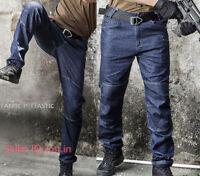 Men's Jeans Tactical Cargo Pant Combat Work Denim Pants Casual Trousers Pockets
