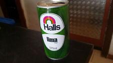 vintage halls lima  soft drink tin can