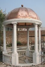 Pavillon aus Marmor mit Kupferdach, Gazebo, Freisitz,Gartenpavillon, Marmorlaube