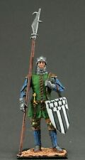 Painted tin toy soldiers figures 54 mm. French city militia, 1370