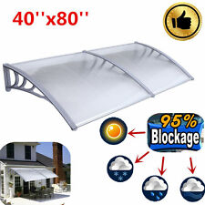 DIY 40''x 80''Outdoor Polycarbonate Front Door Window Awning Patio Cover Canopy