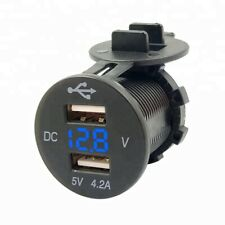 Best selling DC12v dual port car usb charger with voltmeter