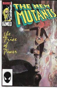 NEW MUTANTS (1983 series) #25 Back Issue Near Mint (9.20)