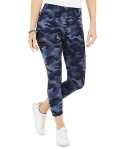 Style & Co Camouflage Capri Leggings Camo Daze Blue Size M #100093915