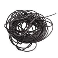 Kautschukband 5mm Schwarz 5 Meter Schmuckherstellung Kautschukschnur Fäden C10
