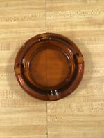 Vintage Amber Glass Cigar Ashtray 6 Inches