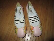 Ballerine rose à motif papillon,T33,marque Rieker,NEUVE!