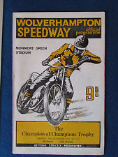 Speedway Programme - Champion of Champions Trophy - 27/10/67 - at Wolverhampton