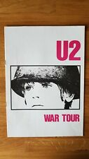 U2 War Tour Programme 1983 with Ticket