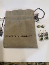 Peridot and Diamonds Stud Earrings New listing David Yurman Albion 7mm