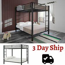 Bunk Beds Full Over Full Metal Frame for Kids Girls Boys Ladder Rails Bedroom