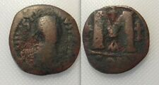 Coleccionable bizantina Moneda De Bronce De Justin I (ad 518/527) constantinoplois