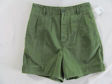 Marc by Marc Jacobs Shorts- New Fatigue Green- Side Belts Hem- Size 4- NWT $238