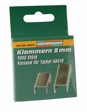 Mannesmann M48411 Ersatzklammern 8 mm für Tacker M48410 Tackernadeln Klammer