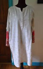 Origins Offwhite Heavily Embroidered Salwar Kameez Top Large