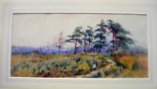 LANDSCAPE FEMALE FIGURE ON A COUNTRY PATH W/COL FRANK HIDER C1890