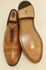"""ALLEN EDMONDS """"Strand"""" Walnut Tan Leather Men's Oxford Shoes Size 8 D J&R Soles"""