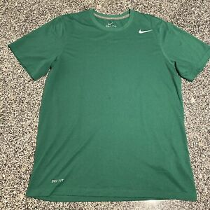 Nike Men's S/S Legend Dri-FIT Shirt Crew T-Shirt Green  Medium M