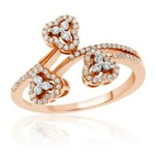 10K Rose Gold Women's Ring Set with 0.40 CT Diamond