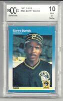 Black Friday Sale 1987 Fleer  BARRY BONDS Rookie Graded Beckett PERFECT 10 MINT