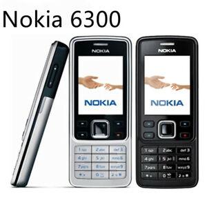 Hot Original Nokia 6300 Black Unlocked FM Camera MP3 Bluetooth Mobile Bar Phone