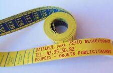 Ancien mètre de couturière publicitaire 72310 Bessé / Braye vintage, collection