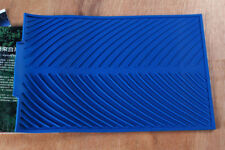 Blue Soft Silicone Dishes Drying Draining Mat for Kitchen Counter 15.3x9.8in OB