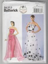 Butterick Sewing Pattern B6353 By Gertie Strapless Dress Detachable Train 14-22