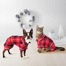 Wondershop Holiday Fleece Pet Pajamas Large Red Black Plaid Dog Cat New