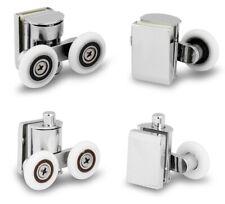 4Pcs 23mm Twin Zinc Alloy Shower Door Rollers Runners Wheels Top and Bottom Set