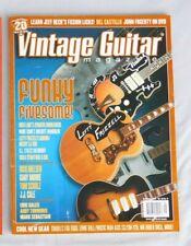 September 2006 Vintage Guitar Magazine ZEMAITIS DOUBLENECK RICK NIELSEN