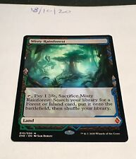 Magic the Gathering MTG Misty Rainforest Zendikar Rising Expedition Card NM/M