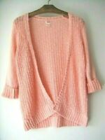 Mossimo Supply Co. ~ Sz.XS/TP *Pink/Peach Cotton Open Front Cardigan