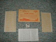 """Champ decals HO Alphabet Numerals L-154 Chelsea dulux gold 1/8""""  E124"""