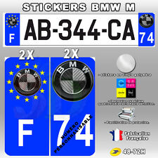 Stickers Logo BMW Carbon Stickers Plaque D'immatriculation 4 pièces 100x45 mm