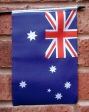 """Australia Pack of 10 Small Hand Waving Flags Flag Australian 6"""" X 4"""" With Pole"""