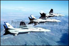 USN F-14 Tomcat VF-213 Near NAS Fallon 1980 8x12 Photo