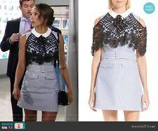 SELF-PORTRAIT Shirting Lace Cape Mini Dress Size UK 6