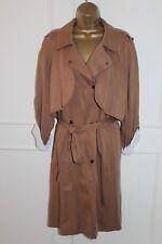 BNWT Next UK 20 Tan Oversize Tencel BROWN TRENCH COAT Jacket